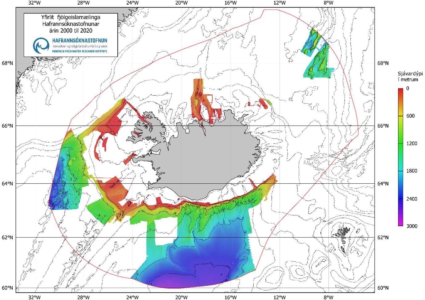 yfirlitsmynd yfir kortlagningu hafsbotnsins