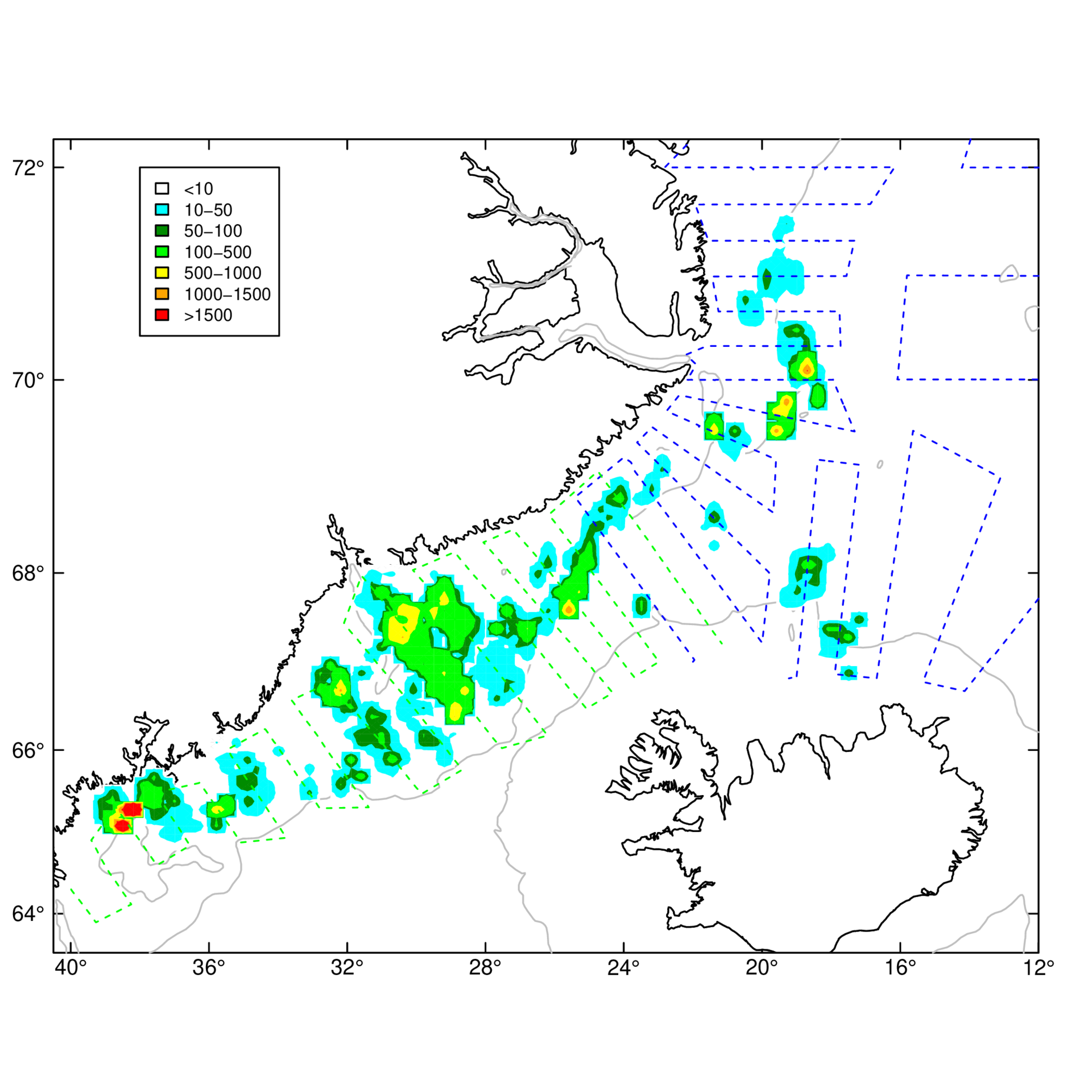 distribution of capelin